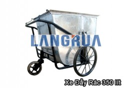 xe đẩy rác 350 lít