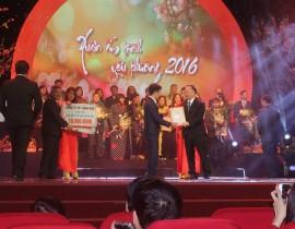 """công ty cổ phần Làng Rùa đồng hanh cùng đêm """"xuân ấm tình thương 2016"""""""