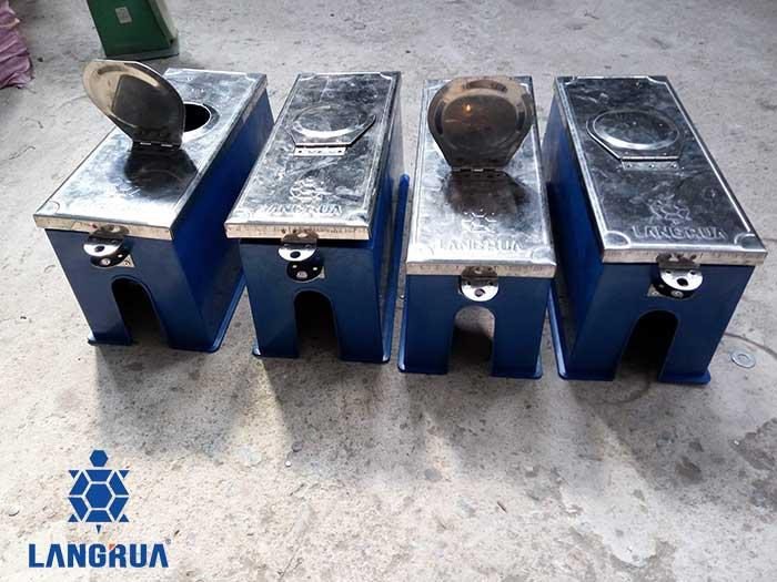 hộp bảo vệ đồng hồ nước nhựa nắp kim loại inox