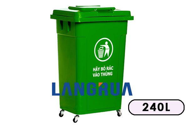 thùng rác nhựa hdpe 240l giá rẻ